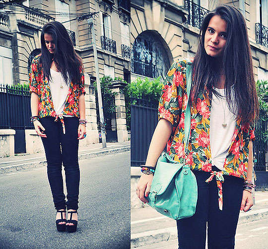 Salade de Fruits - Pants, Cheap Monday, Hawaiian shirt, Weeken, Mint bag, Weeken, Wedges, Zara, Marie M