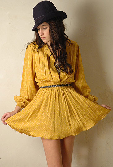 Ray of SUNshine - Vintage 50s yellow mini dress, Weeken, Rachel Hunt