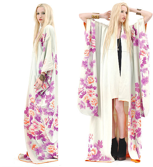 The White Witch. - Watercolor Silk Kimono, Weeken, Platform Booties, Weeken, Marie Hamm