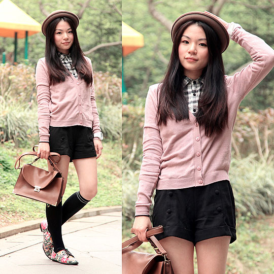 Preppy in pink - Sweaters, Weeken, Shorts, Weeken, BAGS, Weeken, Yuki Lo