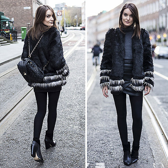 Contrast., Anouska Proetta Brandon, Faux fur jacket, H&M, Polo neck, Zara, Boots, Forever21, Backpack, GUESS, Anouska Proetta Brandon,