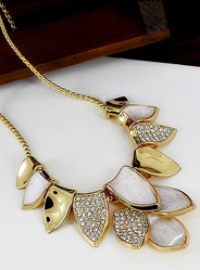 Leaves dance streamer fashion necklace chain clavicle short paragraph wedding with jewelry exaggerated