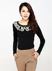 Autumn knitted long-sleeved shirt bottoming