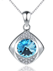 925 sterling silver Korean version of the new micro-crystal fashion pendant