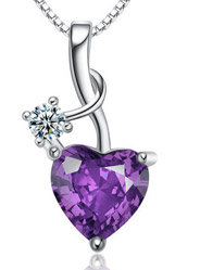 Amethyst CZ Drops Necklace