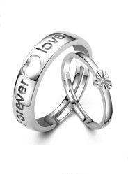 925 Sterling Silver Rings Couple Ring Forever Love Engagement Ring