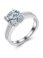 S925 sterling silver ring fashion temperament micro-diamond ring