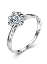 925 sterling silver fashion ultra-flash marriage ring