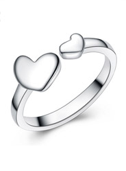 S925 sterling silver loving couple couples open rings are rings