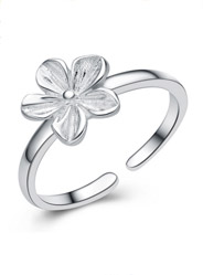 925 sterling silver flowers are open code men and women couple ring