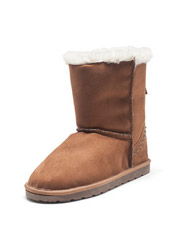 Daphne rivet plush flat with round head snow boots