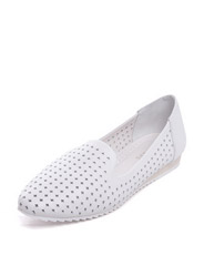 Daphne new round hollow leather round head fashion women's single shoes