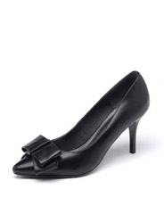 Daphne new leather pointed shallow mouth thin with high-heeled shoes